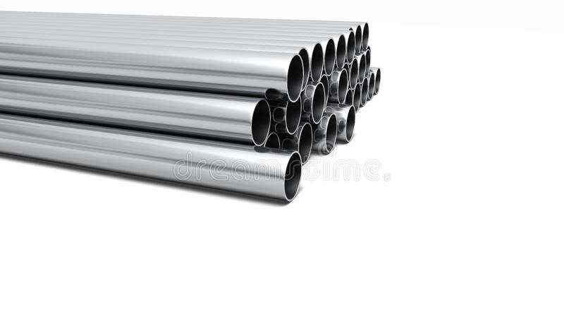 Pipe ends stock illustration