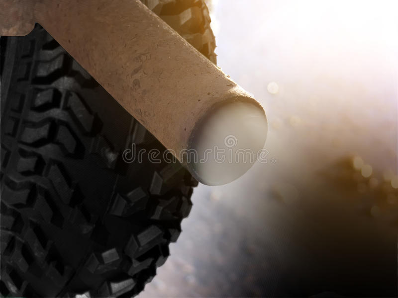 Pipe Exhaust  Old Car Royalty Free Stock Photos
