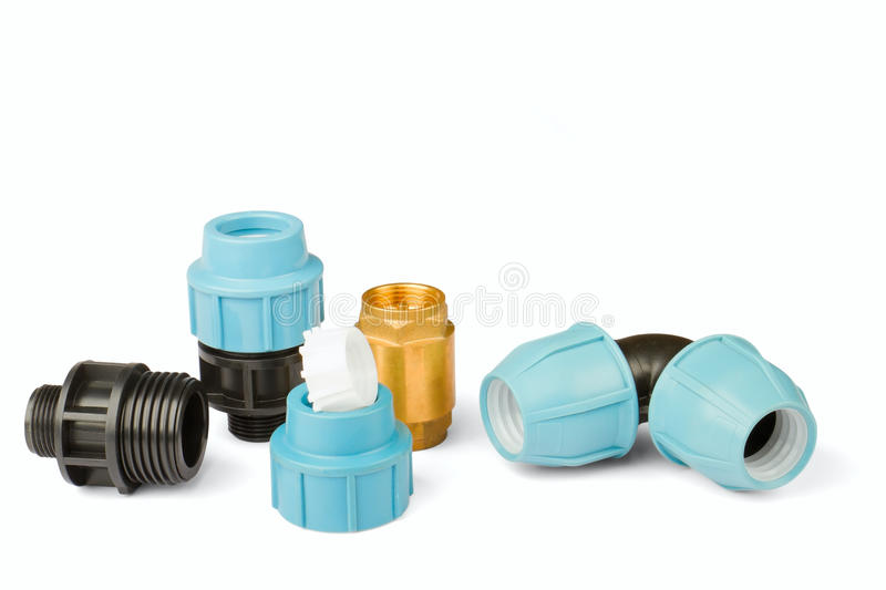Download Pipe fittings stock image. Image of blue, pipe, black - 20377379