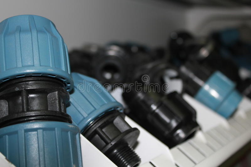 Pipe fittings royalty free stock images