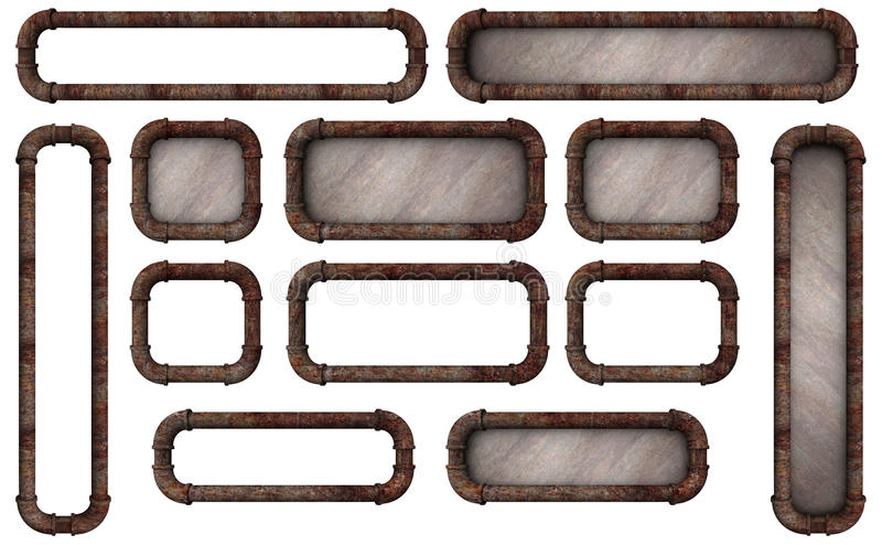 Pipe Frame Buttons stock illustration. Illustration of straight ...