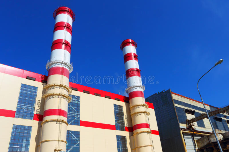 Pipe of industrial factory. stock photography