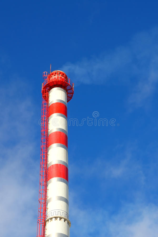 Pipe of an industrial manufactory royalty free stock image