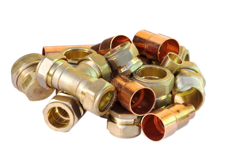 Pipe joints, connections and j stock images