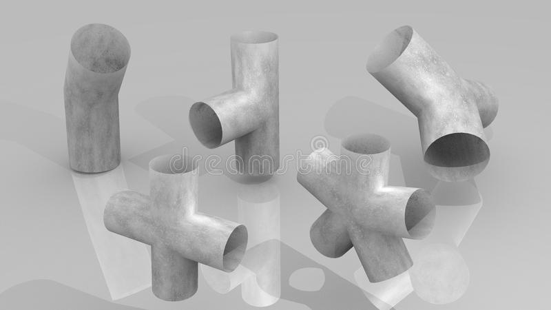 Download Pipe joints set stock illustration. Image of worker, industry - 23264609