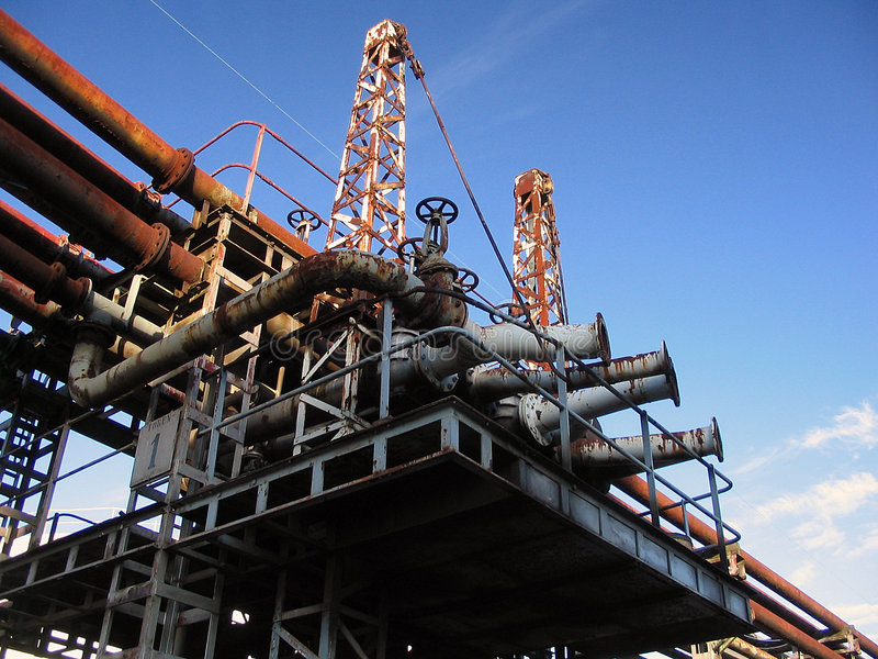 Pipe line construction royalty free stock images