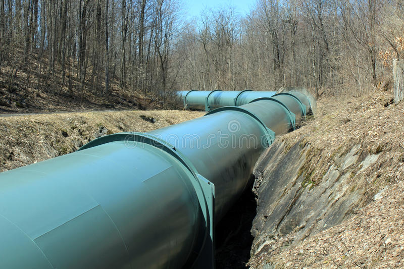 Download Pipe Line stock photo. Image of pipe, ditch, green, trail - 90909350