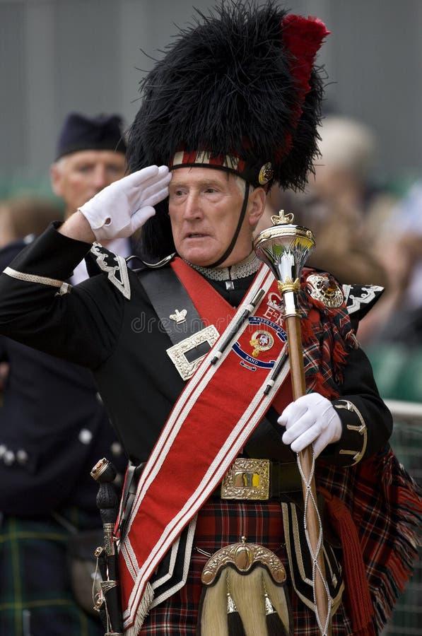 Pipe Major - Highland Games - Scotland royalty free stock photos
