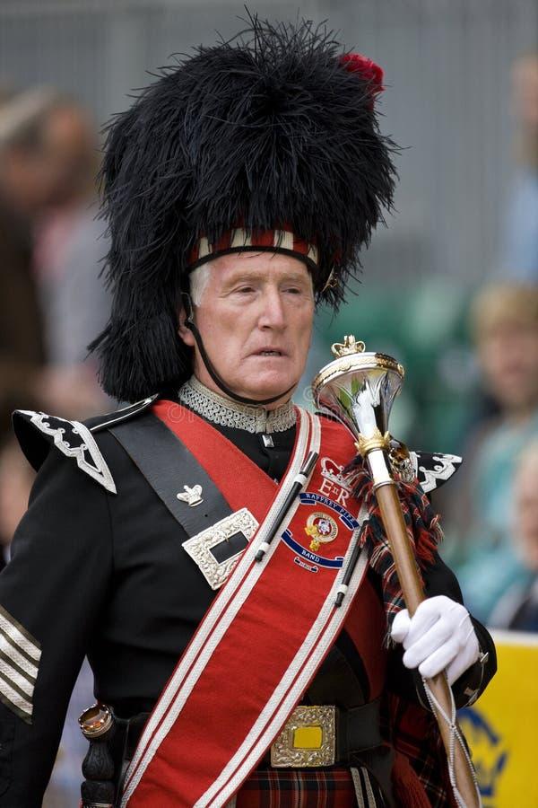 Pipe Major - Highland Games - Scotland stock photography