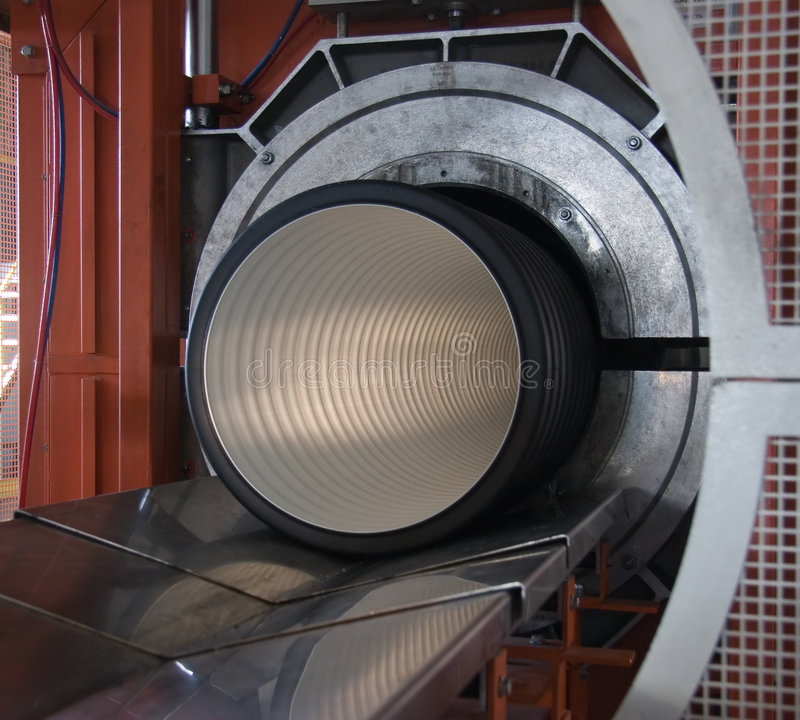 Pipe manufacture royalty free stock photos