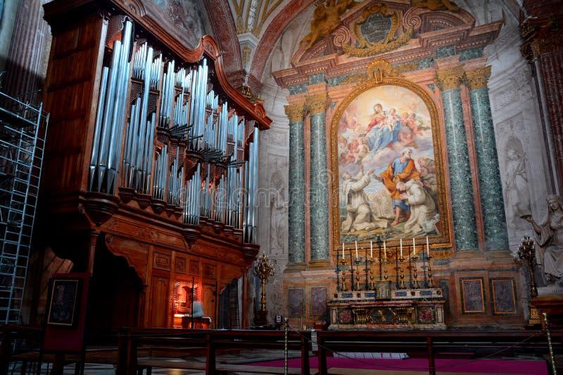 Download The Pipe Organ Of The Church Of Santa Maria Degli Angeli Stock Photo - Image of worship, religion: 35879444
