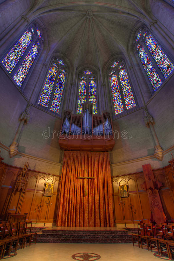 Download Pipe Organ Stained Glass Altar At Grace Cathedral Stock Photo - Image: 21779282