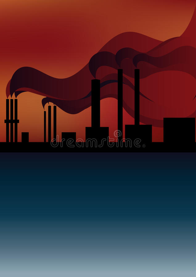 Download Pipe Smoke Polluting The Atmosphere Royalty Free Stock Photos - Image: 10419738