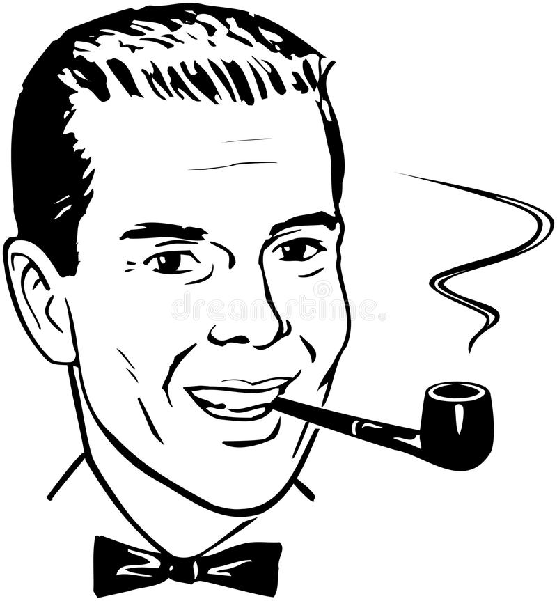 Free Pipe Smoking Chap Stock Photo - 42095690