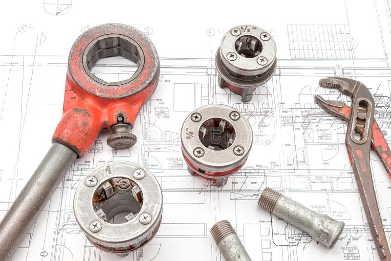 Pipe thread cutter royalty free stock image
