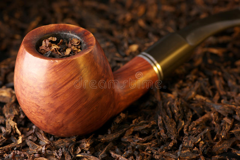 Pipe and tobacco royalty free stock photography