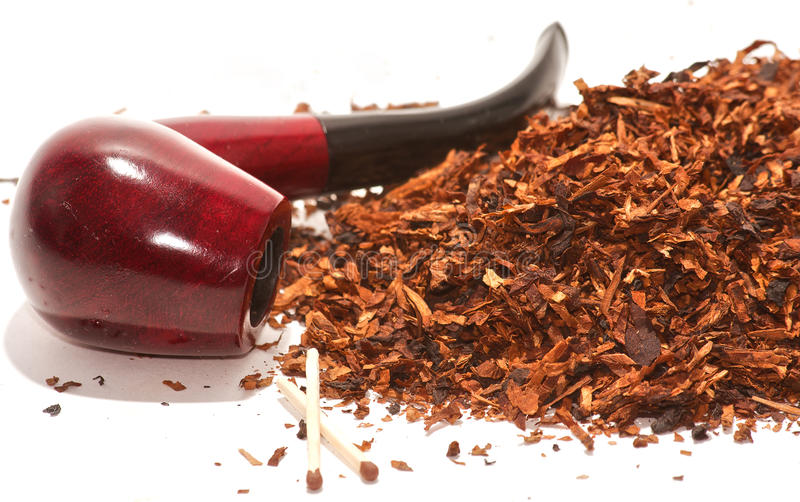 Pipe and tobacco stock photos