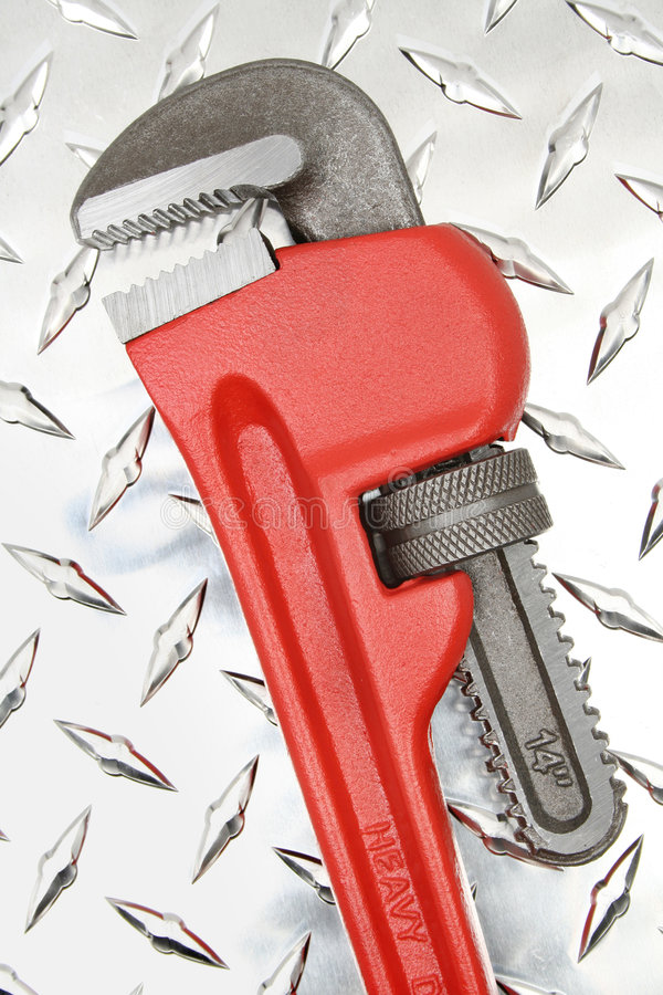 Download Pipe Wrench stock image. Image of adjustable, metal, closeup - 7208161