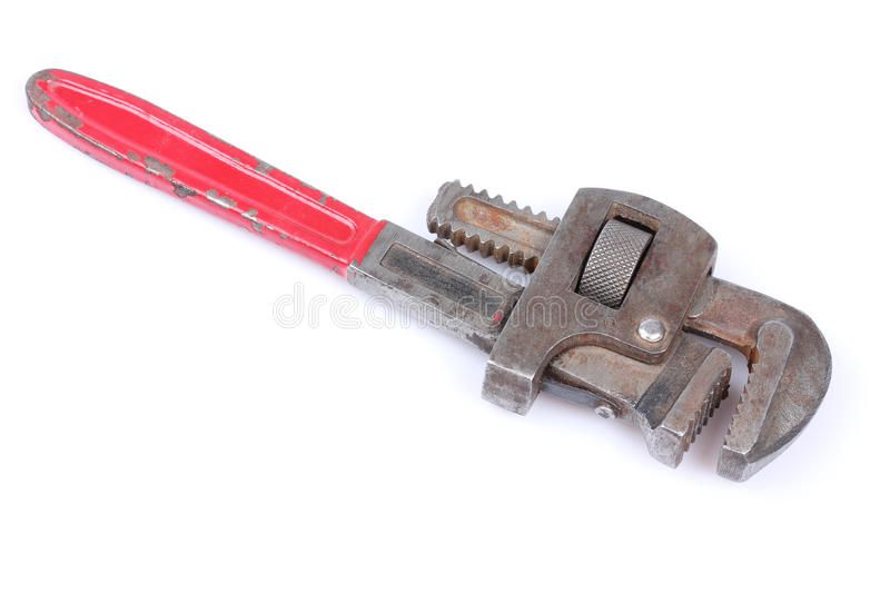 Pipe wrench. Isolated over a white background royalty free stock images