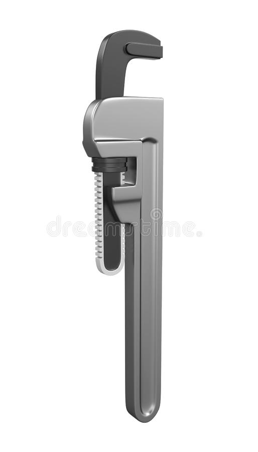 Pipe Wrench Isolated vector illustration
