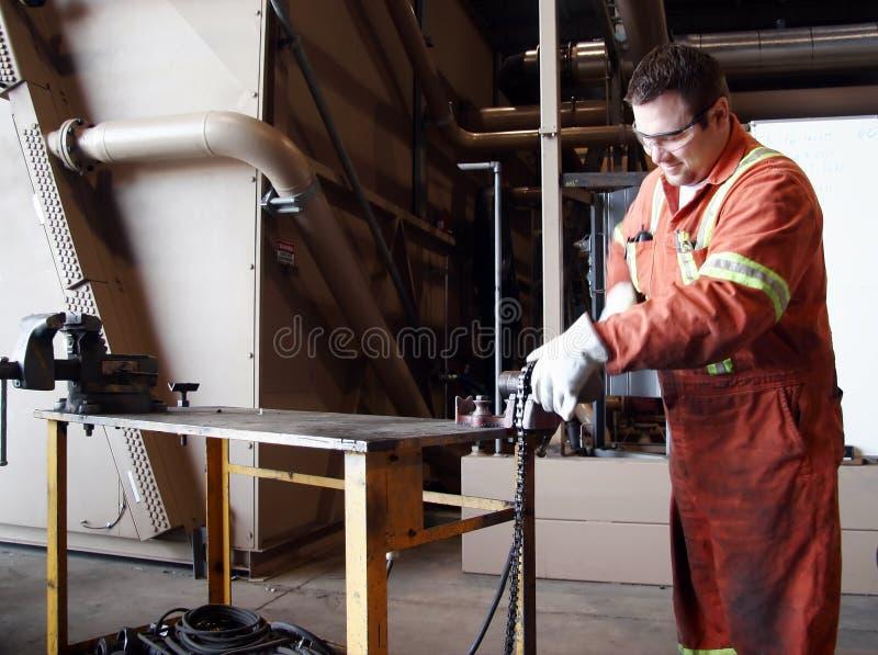 Pipefitter industriale fotografie stock