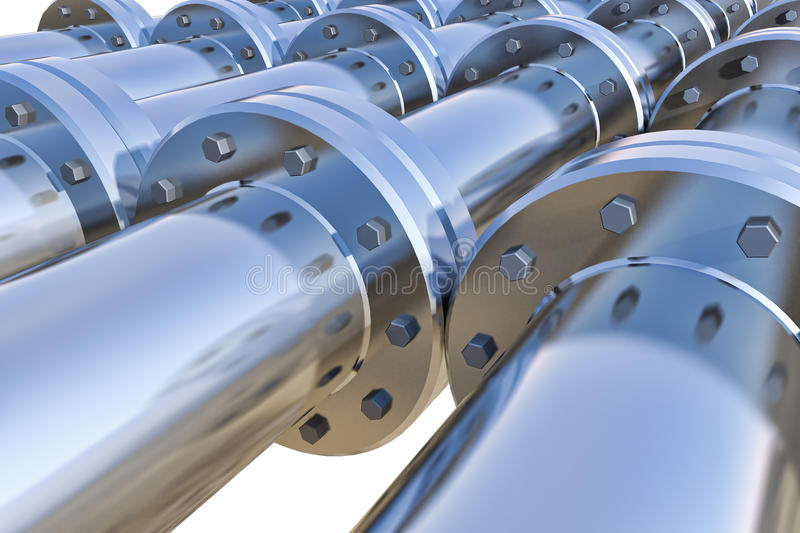 Pipeline. On a white background royalty free illustration
