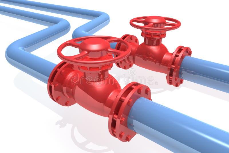 Pipeline. 3D rendered pipeline isolated on white background vector illustration