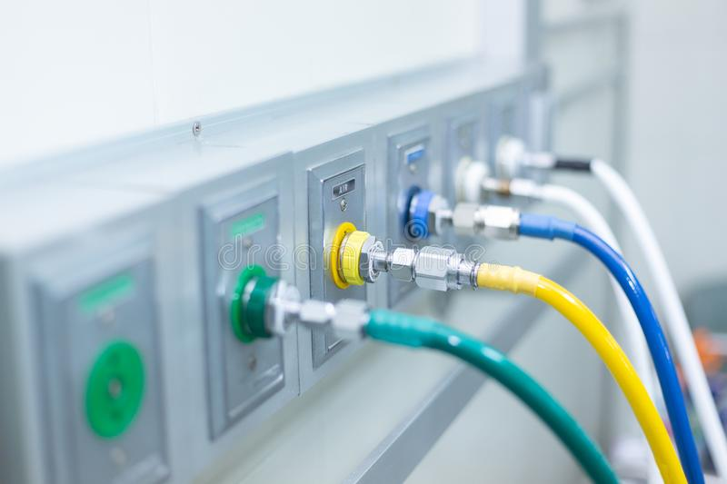 Pipeline anesthesia On Opareting Room stock photo