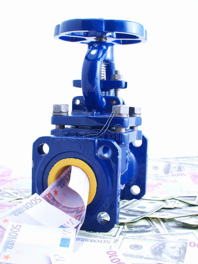 Download Pipeline Armature Against Money Stock Photo - Image: 12889416