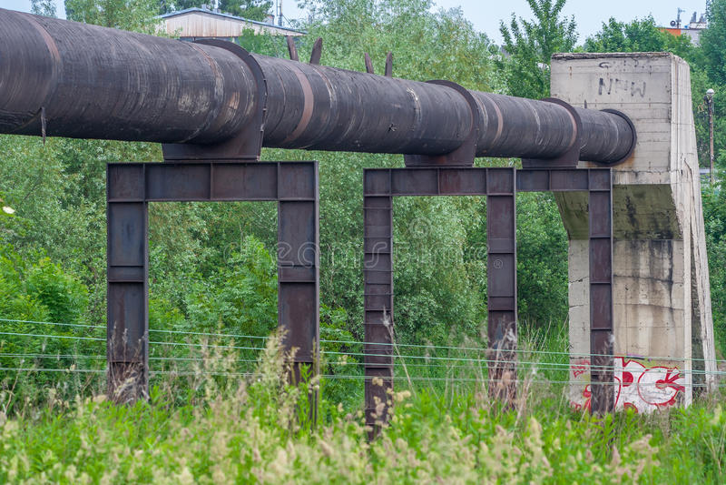 Pipeline. Big pipe/pipeline/steel pipeline royalty free stock images