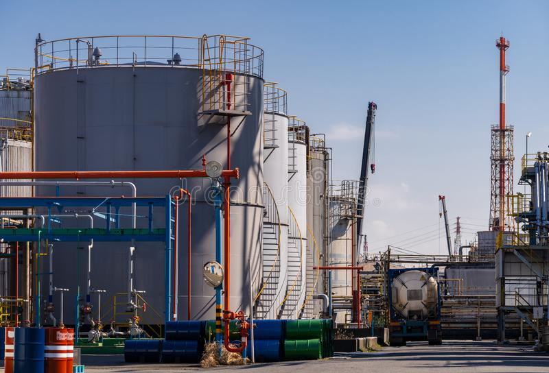 Pipeline Chemical oil factory plant royalty free stock photography