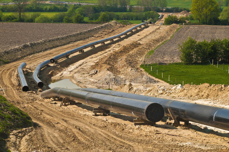 Pipeline construction royalty free stock images