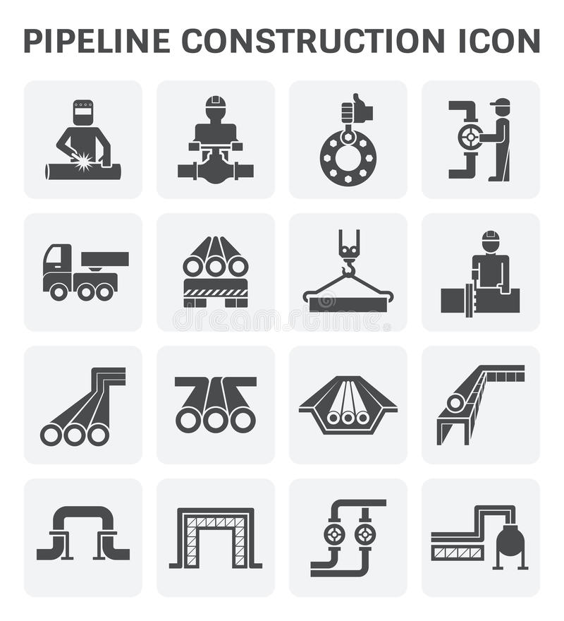 Pipeline construction icon royalty free illustration