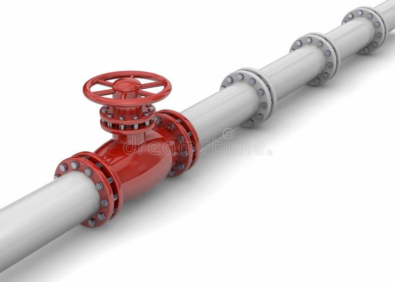Pipeline - 3D. Pipeline 3d on white background vector illustration