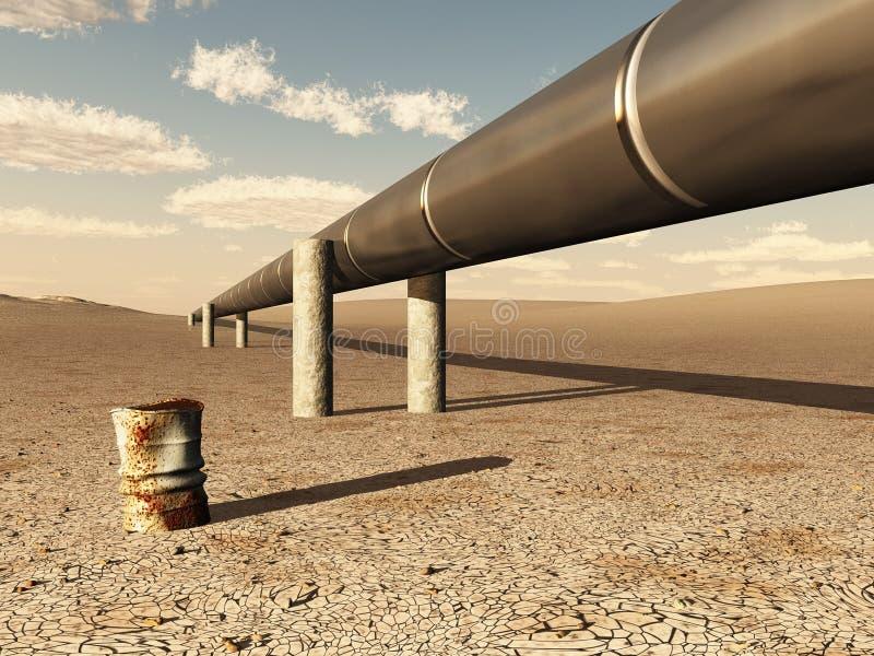 Download Pipeline in desert stock illustration. Illustration of priming - 9564983