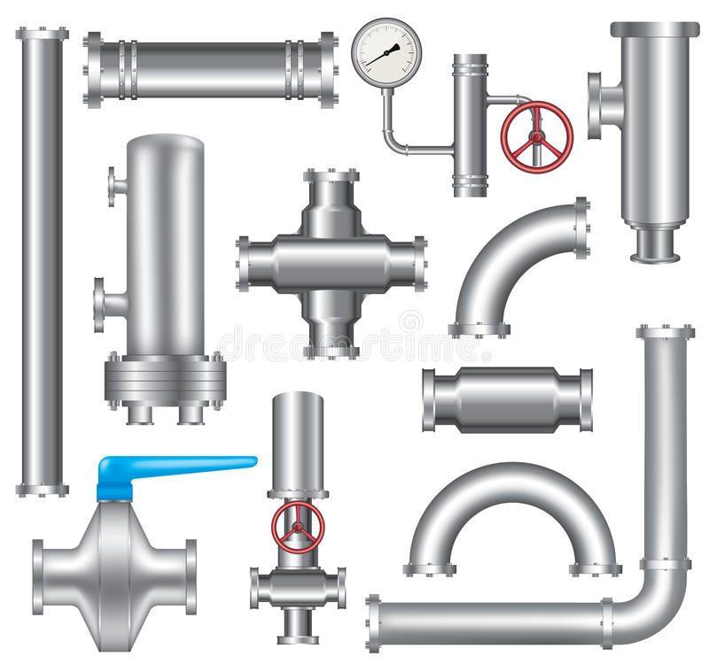 Pipeline elements. Set of pipeline elements isolated on white background,vector eps 10 vector illustration