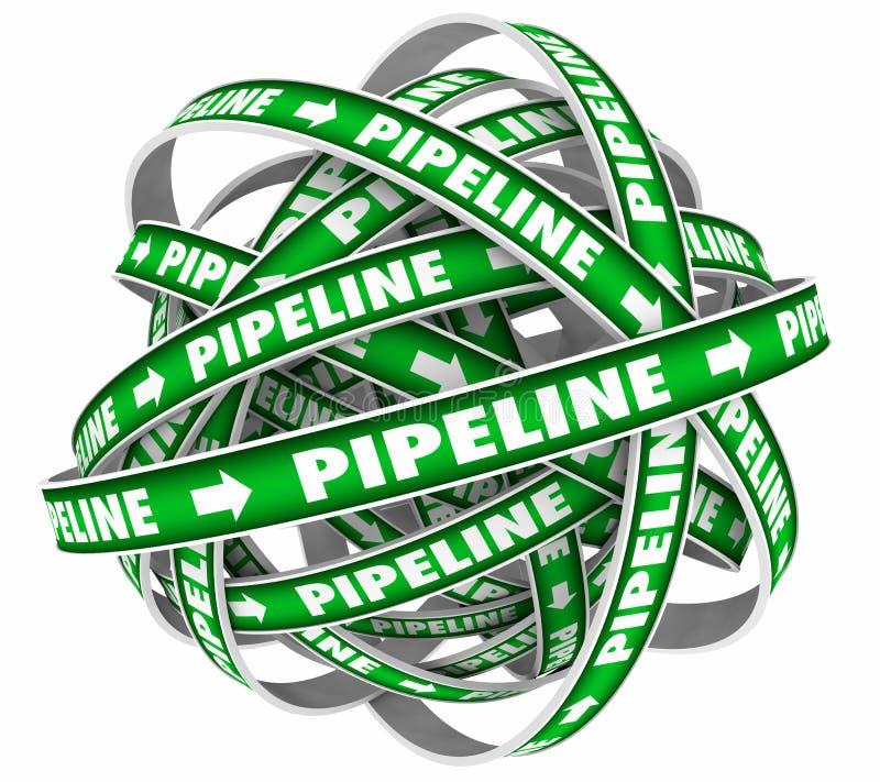 Pipeline Sales Cycle. Funnel System Procedure 3d Illustration vector illustration