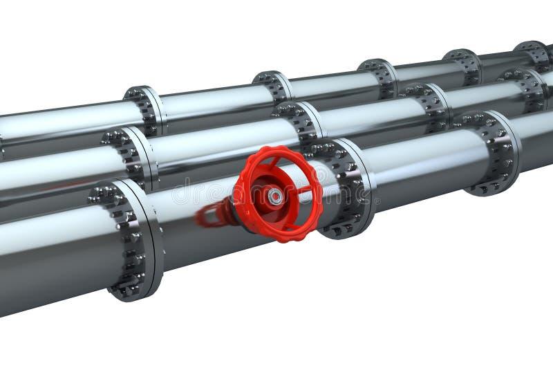 Pipeline Stopcock Stock Photo
