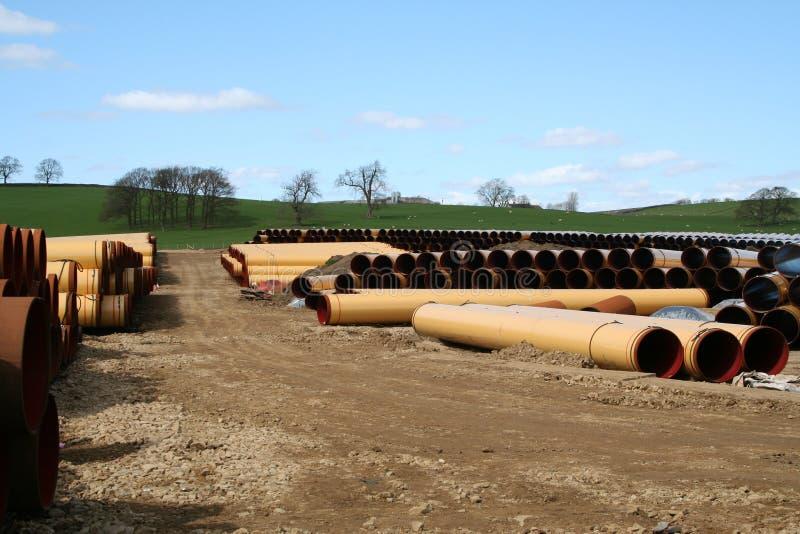 Pipeline Storage Depot. stock photos