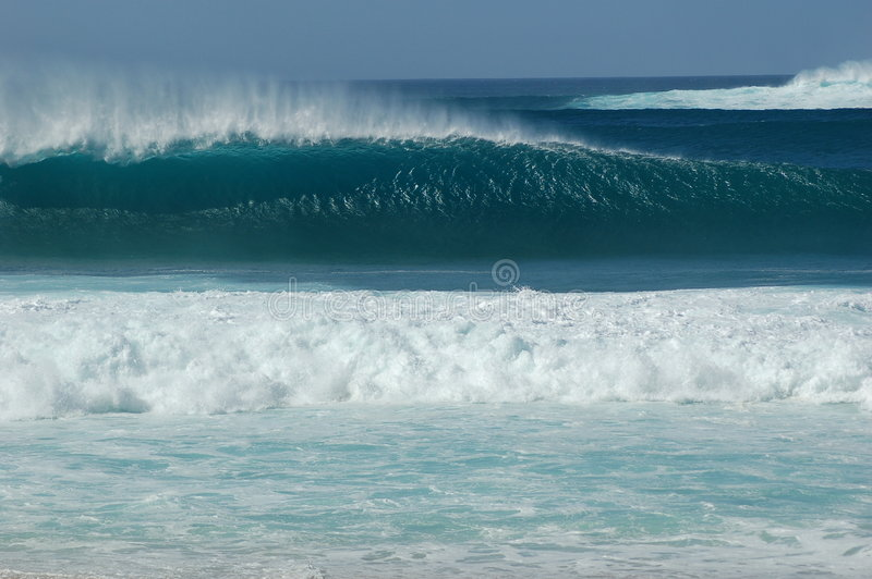 Pipeline Surf royalty free stock image