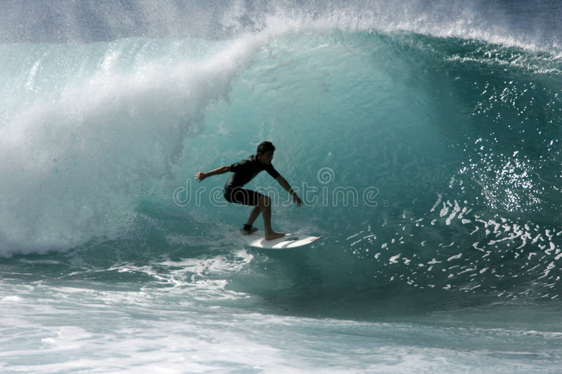 Pipeline Surfer royalty free stock image