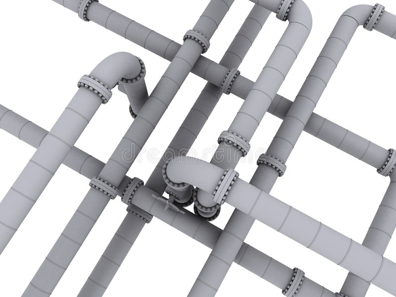 pipelines royaltyfri illustrationer