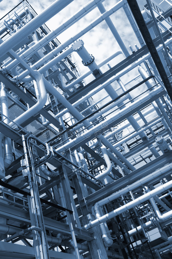 Pipelines In Blue Concept Stock Photos