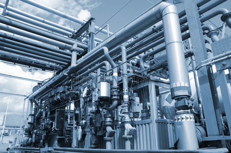Pipelines and refinery stock photos
