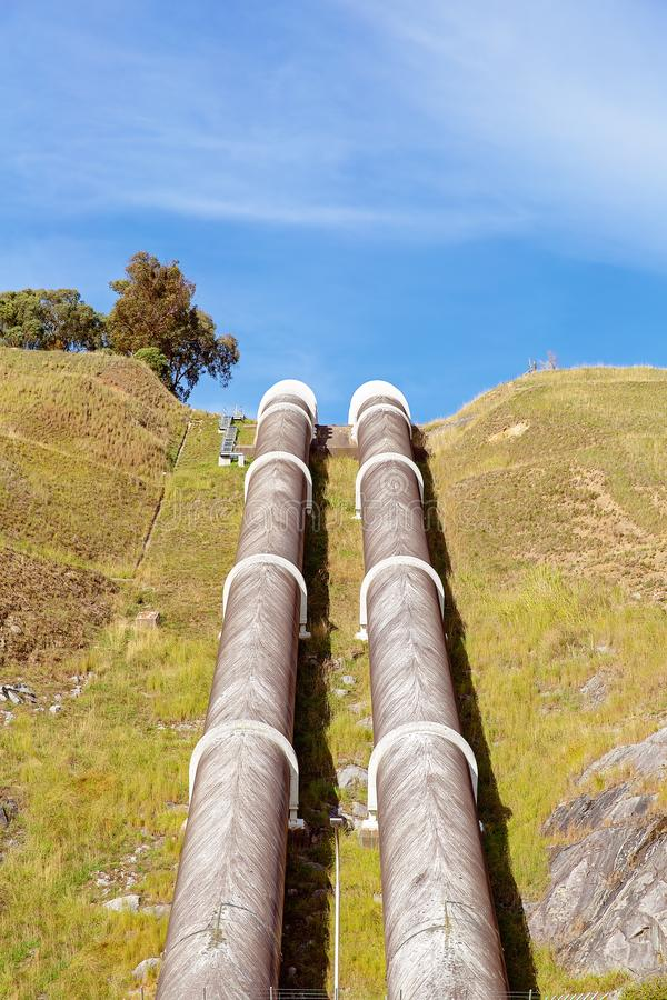 Pipelines Of Renewable Energy By Australia`s Largest Hydro-Electricity Scheme stock photo