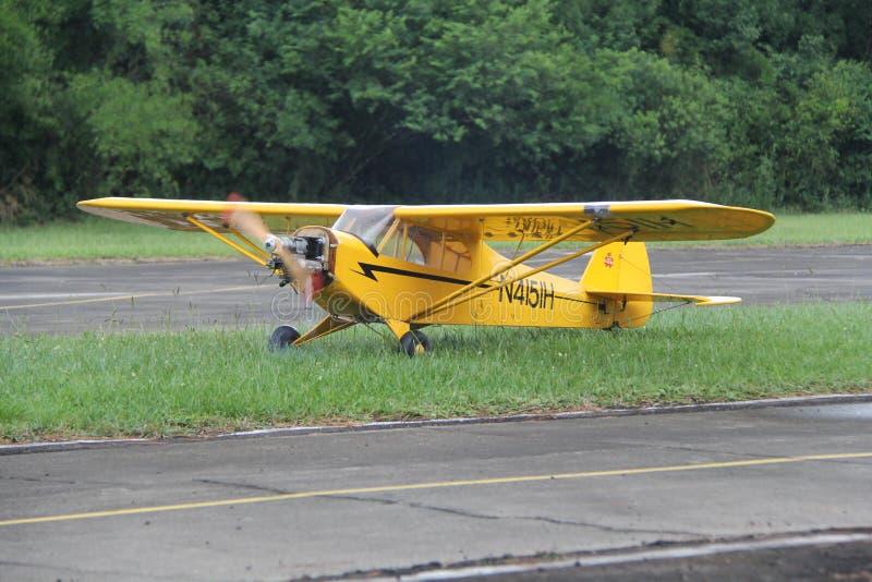Piper Cub Airmodel fotografia de stock