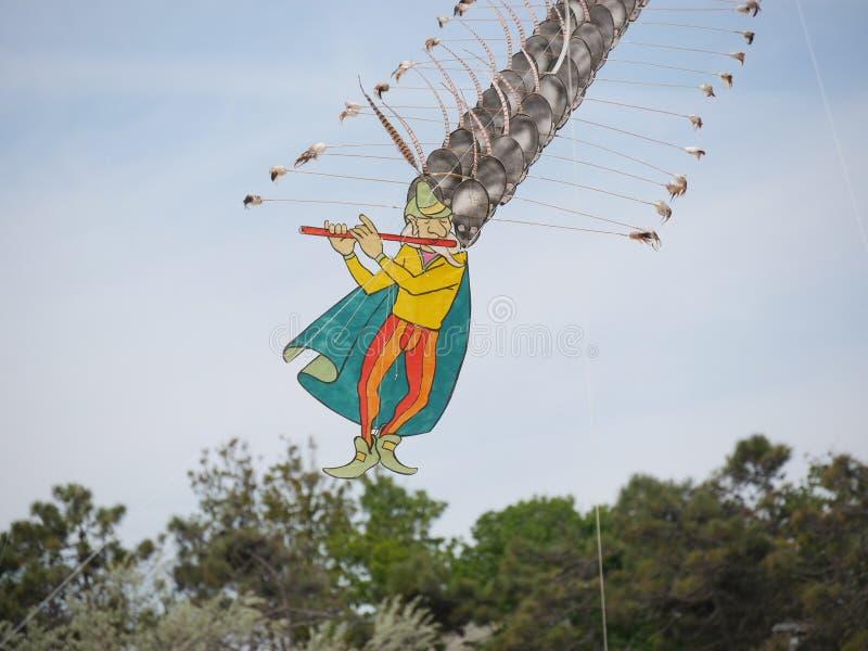 Piper Kite mágica foto de stock royalty free
