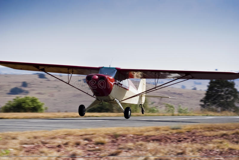 Download Piper PA-12 Super Cruiser - Touch 'n Go Stock Photo - Image: 19545862