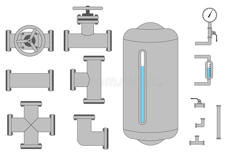Pipes illustration stock