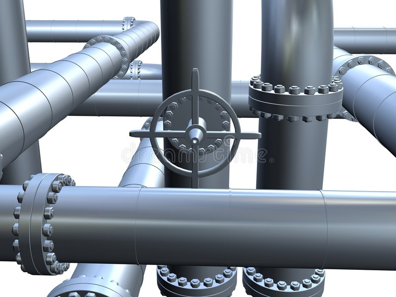 Pipes royalty free illustration